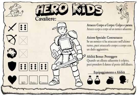 Hero Kids - Hero Card - Italian - Knight Male