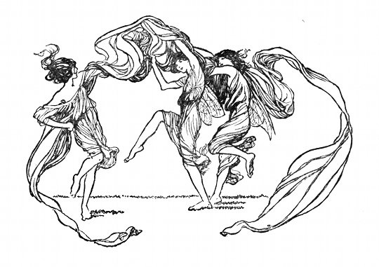"""The fairy illustrations from which Frances and Elsie based their cut-out figures, from """"A Spell for a Fairy"""" by Alfred Noyes, published in Princess Mary's Gift Book (1915) – Source"""
